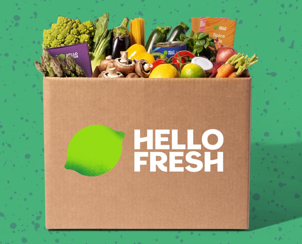 A Hello Fresh basket
